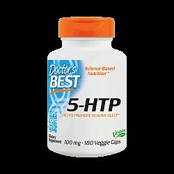 "5-HTP הידרוקסי טריפטופן 100 מ""ג - 180 כמוסות צמחיות - מבית Doctor's best"