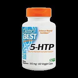 "5-HTP הידרוקסי טריפטופן 100 מ""ג - 60 כמוסות צמחיות - מבית Doctor's best"