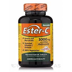 """אסטר סי ויטמין C לא חומצי 1000 מ""""ג 120 טבליות - מבית Ester-C"""