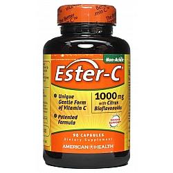 """אסטר סי ויטמין C לא חומצי 1000 מ""""ג 90 כמוסות - מבית Ester-C"""