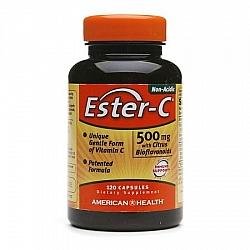 """אסטר סי ויטמין C לא חומצי 500 מ""""ג 120 כמוסות - מבית Ester-C"""
