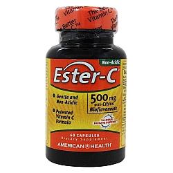 """אסטר סי ויטמין C לא חומצי 500 מ""""ג 60 כמוסות - מבית Ester-C"""