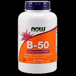 קומפלקס  ויטמינים בי B-50  כמות 250 טבליות - מבית NOW FOODS