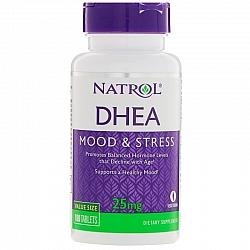 "DHEA המינון 25 מ""ג בתוספת סידן - 180 טבליות מבית NATROL"