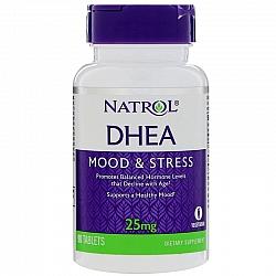 "DHEA המינון 25 מ""ג בתוספת סידן - 90 טבליות מבית NATROL"