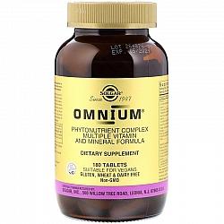 אומניום מולטי ויטמין-מינרל סולגאר - 180 טבליות - מבית SOLGAR