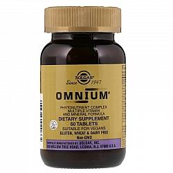 אומניום מולטי ויטמין-מינרל סולגאר - 60 טבליות - מבית SOLGAR