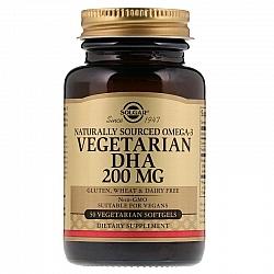"""אומגה 3 ממקור צמחי 200 מ""""ג סולגאר - 50 כמוסות רכות צמחיות מבית SOLGAR"""