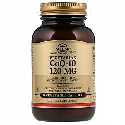 """קו-אנזים Q10 צמחי 120 מ""""ג סולגאר - 60 כמוסות צמחיות מבית SOLGAR"""