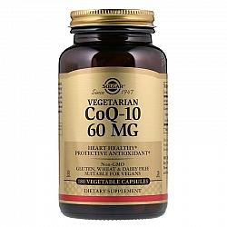 """קו-אנזים Q10 צמחי 60 מ""""ג סולגאר - 180 כמוסות צמחיות מבית SOLGAR"""
