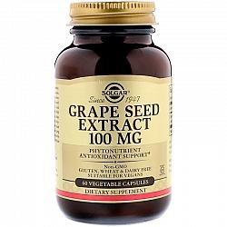 """תמצית זרעי ענבים 100 מ""""ג סולגאר - 60 כמוסות צמחיות מבית SOLGAR"""