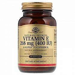 """ויטמין E סולגאר בתוספת תערובת טוקופרולים IU 400 יחב""""ל - 100 כמוסות רכות - מבית SOLGAR"""