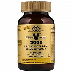 מולטי ויטמין מינרל VM-2000 סולגאר - 90 טבליות מבית SOLGAR