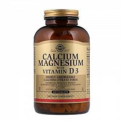 סידן ומגנזיום בתוספת ויטמין D3 סולגאר - 300 טבליות מבית SOLGAR
