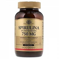 """ספירולינה 750 מ""""ג סולגאר - 250 טבליות מבית SOLGAR"""