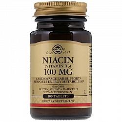"""ויטמין B3 ניאצין 100 מ""""ג סולגאר 100 טבליות - מבית SOLGAR"""