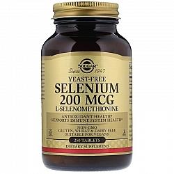 סלניום נטול 200 mcg סולגאר שמרים (סלנו 6)  - 250 טבליות מבית SOLGAR