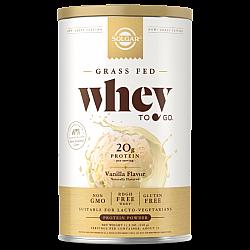 אבקת חלבון סולגאר מֵי גבינה Whey To Go בטעם ונילה - משקל 340 גרם מבית SOLGAR