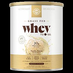 אבקת חלבון סולגאר מֵי גבינה Whey To Go בטעם ונילה - משקל 907 גרם מבית SOLGAR