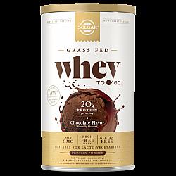 אבקת חלבון סולגאר מֵי גבינה Whey To Go בטעם שוקולד טבעי - משקל 454 גרם - מבית SOLGAR
