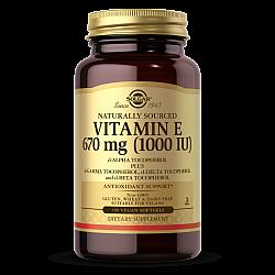"""ויטמין E סולגאר 670 מ""""ג ממקור טבעי 1000 יחב""""ל - 100 כמוסות רכות מבית SOLGAR"""