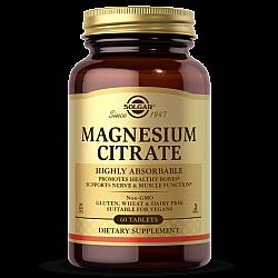 מגנזיום ציטראט Magnesium Citrate סולגאר - 60 טבליות מבית SOLGAR