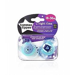 זוג מוצצים זוהרים בחושך 18-36 - הכי טבעי טומי טיפי - מבית Tommee Tippee