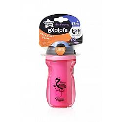 כוס מבודדת שסתום שני חלקים בנות לגיל 12+ חודשים - אקספלורה טומי טיפי - מבית Tommee Tippee