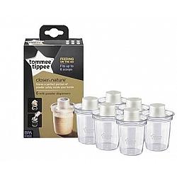 שישה מיכלים לאבקת חלב - הכי טבעי טומי טיפי - מבית Tommee Tippee