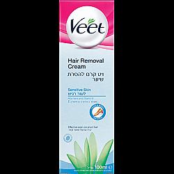 """ויט קרם להסרת שיער מעושר בלחות ויטמין E לעור רגיש 100 מ""""ל - מבית Veet"""