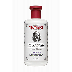 """מי ורדים לרענון וניקוי פנים וויץ הזאל Witch Hazel לבנדר 355 מ""""ל - מבית Thayers"""
