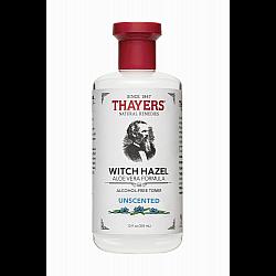 """מי ורדים לרענון וניקוי פנים וויץ הזאל Witch Hazel ללא תוספת רכות 355 מ""""ל - מבית Thayers"""
