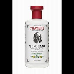 """מי ורדים לרענון וניקוי פנים וויץ הזאל Witch Hazel מלפפון 355 מ""""ל - מבית Thayers"""