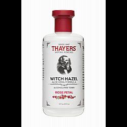 """מי ורדים לרענון וניקוי פנים וויץ הזאל Witch Hazel עלי ורדים 355 מ""""ל - מבית Thayers"""