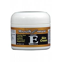 קרם פנים וגוף בתוספת שמן ויטמין E גודל 57  גרם - מבית Mason Naturals