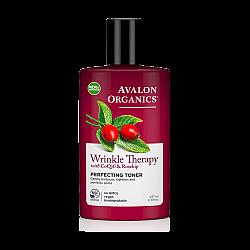 """טונר משפר לטיפול בקמטים מועשר בשמן פרי הורד ו- CoQ10 אבלון אורגניקס 237 מ""""ל - מבית Avalon Organics"""