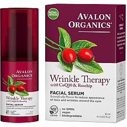 """סרום פנים מועשר בשמן פרי הורד ו- CoQ10 לטיפול בקמטים אבלון אורגניקס 16 מ""""ל - מבית Avalon Organics"""