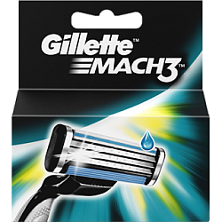 ג'ילט מאך 3 סכיני גילוח רב פעמיים 4 סכינים - מבית Gillette
