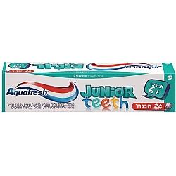 """אקווה פרש JUNIOR משחת שיניים לילדים +6 - 50 מ""""ל"""