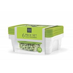 סט 3 קופסאות אחסון, 2.3 ליטר, מסוג PP5 ללא תוספת BPA - מבית PLAS GLAS