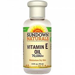 """שמן ויטמין E טבעי נוזלי 70.000 יחב""""ל - מבית Sundown Naturals"""