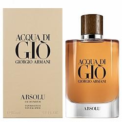 """בושם לגבר ג'ורג'ו ארמני אקווה די ג'יו אבסולו Acqua Di Gio ABSOLU א.ד.פ 125 מ""""ל - מבית Giorgio Armani"""