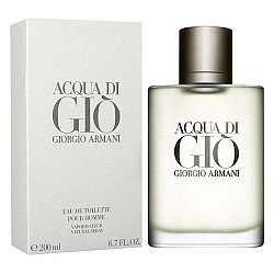 """בושם לגבר ג'ורג'ו ארמני אקווה די ג'יו מן Acqua Di Gio א.ד.ט 200 מ""""ל - מבית Giorgio Armani"""