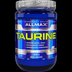 """אבקת טאורין 3000 מ""""ג למנה - 400 גרם - מבית ALLMAX"""