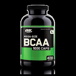 """BCAA חומצות אמינו 1000 מ""""ג - כמות 400 כמוסות - מבית Optimum Nutrition"""