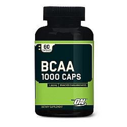 """BCAA חומצות אמינו 1000 מ""""ג - כמות 60 כמוסות - מבית Optimum Nutrition"""