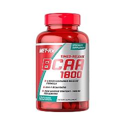 BCAA חומצות אמינו 1800 - כמות 120 כמוסות מבית MET-RX
