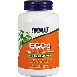 תה ירוק EGCg שורף שומן טבעי - 180 כמוסות מבית NOW FOODS