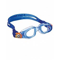 משקפת שחיה Moby Kid צבע כחול ופס כתום - מבית Aqua Sphere