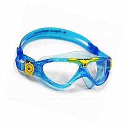 משקפת שחיה Vista JR צבע כחול בהיר ופס צהוב - מבית Aqua Sphere